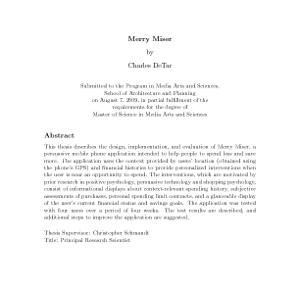 Preface in master thesis aploon